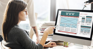 WWW Website Internet Technology Network Social Concept Royalty Free Stock Images