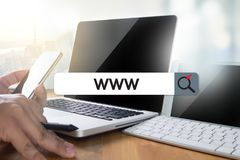 WWW Website Online Internet Web Page computer Browser Connection. Network Concept to use www royalty free stock photography