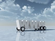 Www on wheels Stock Photo