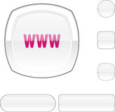 WWW white button. Royalty Free Stock Photography