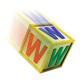 WWW Wooden Block Shows Internet Online And Webpage Stock Photos