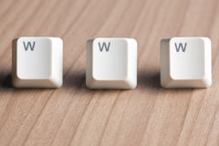 Www word  making from computer keyboard Stock Photography