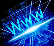 Www Word Means World Wide Web And Internet Stock Images