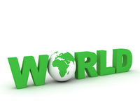 WWW World Globe 003. 3d rendered globe with www text on white backdrop 003 Stock Image