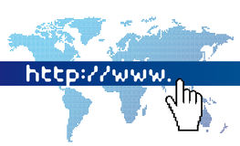 Www world map. Doted world map. Royalty Free Stock Photo