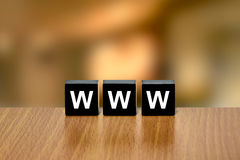 Www or World Wide Web on black block Royalty Free Stock Photos