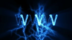 WWW-Wort-Text-Animation mit elektrischem Blitz vektor abbildung