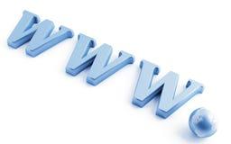WWW y el globo Fotografía de archivo libre de regalías
