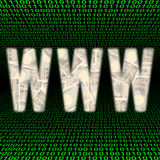WWW with Yen over binary Royalty Free Stock Photos