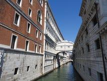 Wyśmienita historyczna kamienna architektura Wenecja Pogodny Włochy, w przybliżeniu, zdjęcie stock