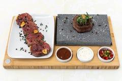 Wyśmienity jedzenie naczynie Restauracja menu rozkaz Wyśmienity naczynie, kreatywnie restauracyjny posiłku pojęcie, haute mod jed zdjęcia stock