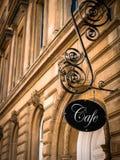 Wyłączny kawiarnia znak Zdjęcie Royalty Free