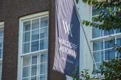 Wyłączny Waldorf Astoria hotel w Amsterdam obraz stock