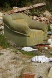 Wyścielana krzesło zieleń Obrazy Royalty Free