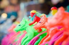 Wyścigi Konny zabawki obraz stock