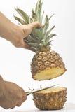 wyśmienicie świeży naturalny ananas Obrazy Royalty Free