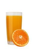 wyśmienicie świeży naturalny sok pomarańczowy w szkle fotografia royalty free