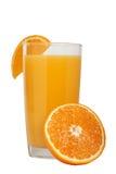 wyśmienicie świeży naturalny sok pomarańczowy w szkle obraz royalty free