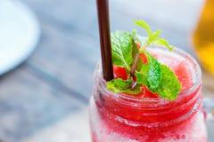Wyśmienicie arbuza frappe w restauraci obraz royalty free