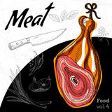 Wyśmienicie baleronu meaty skład Zdjęcia Stock