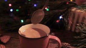Wyśmienicie Bożenarodzeniowy wakacje z latte zbiory wideo