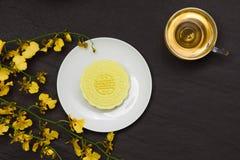 Wyśmienicie Chiński Tradycyjny przekąski Mooncake na stole fotografia royalty free