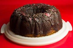 Wyśmienicie czekoladowy bundt tort obraz royalty free