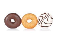 wyśmienicie donuts trzy obrazy stock