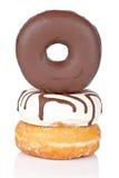 wyśmienicie donuts trzy fotografia royalty free