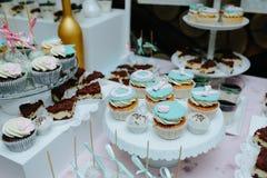 Wyśmienicie galanteryjny ślubny tort Obrazy Royalty Free