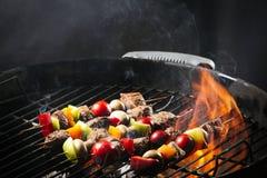 Wyśmienicie gotujący kebab z warzywami Fotografia Royalty Free