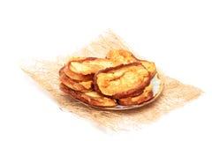 Wyśmienicie grzanka z piec na grillu serem na półmisku Obraz Royalty Free