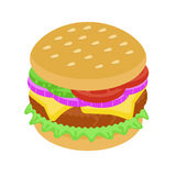 Wyśmienicie hamburger z cebulą i mięsem Fotografia Royalty Free