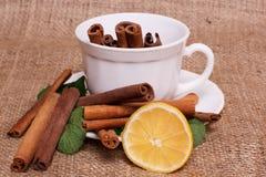 Wyśmienicie herbaciani składniki Zdjęcia Stock