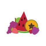 Wyśmienicie i świeżość owoc ilustracji