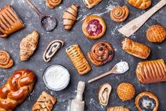 Wyśmienicie i słodki sezonowy ciasta tło zdjęcie royalty free