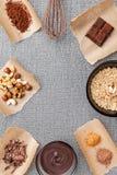 Wyśmienicie i smakowity czekoladowy tło Zdjęcie Royalty Free