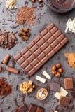 Wyśmienicie i smakowity czekoladowy tło Fotografia Royalty Free
