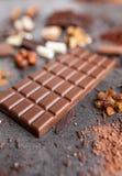 Wyśmienicie i smakowity czekoladowy tło Zdjęcie Stock