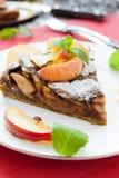 Wyśmienicie jabłczany kulebiak z kawą Obrazy Royalty Free