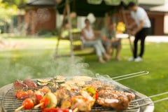 Wyśmienicie jedzenie na grillu obrazy royalty free