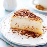 Wyśmienicie kawałek cheesecake Fotografia Royalty Free