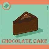 Wyśmienicie kawałek cheesecake w płaskim stylu Zdjęcie Stock