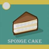 Wyśmienicie kawałek cheesecake w płaskim stylu Fotografia Royalty Free