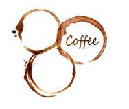 Wyśmienicie kawa espresso - plamy zakończenie ilustracja wektor