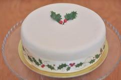 Wyśmienicie Marcepanowy boże narodzenie tort zdjęcie royalty free