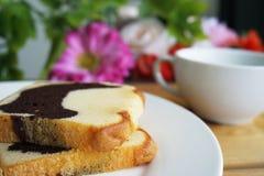 Wyśmienicie masło tort Obrazy Royalty Free