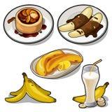 Wyśmienicie naczynia robić od banana ilustracji
