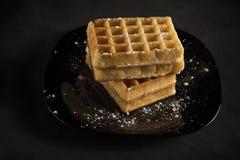 Wyśmienicie opłatki Robi twój śniadaniu smakowity obraz royalty free