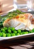 Wyśmienicie owoce morza posiłek piec na grillu ryba Zdjęcia Stock